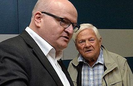 Ministr kultury Daniel Herman a pamětník holocastu Jiří Brady v Show Jana Krause 26. 10. 2016