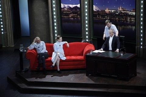 Architekt a herec David Vávra, herečka Anna Fialová a fyzioterapeutka koní a psů Monika Plachá v SJK 22. 3. 2017