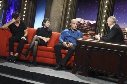 Zpěvák Sagvan Tofi, herečka a zpěvačka Berenika Kohoutová a herpetolog Tomáš Bublík v SJK 24. 10. 2018