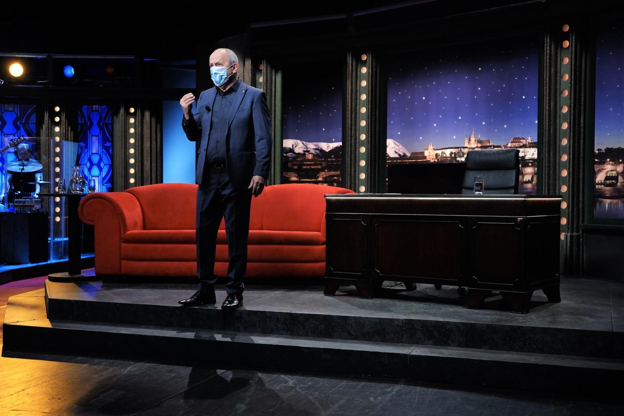 Moderátor Jan Kraus při natáčení SJK v divadle Archa dne 8. 9. 2020