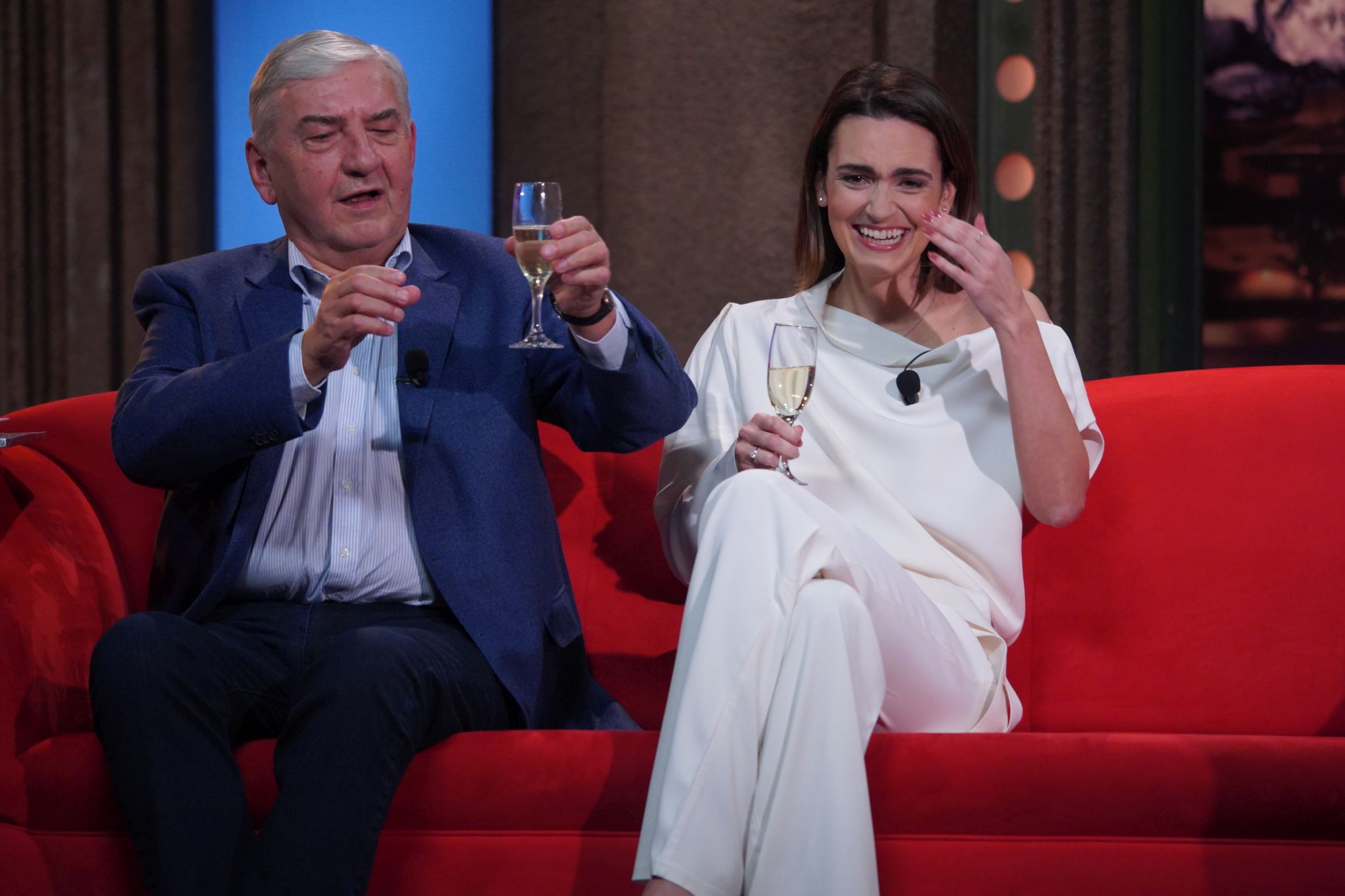 Herec Miroslav Donutil a TV moderátorka a redaktorka Daniela Písařovicová v SJK 3. 2. 2021