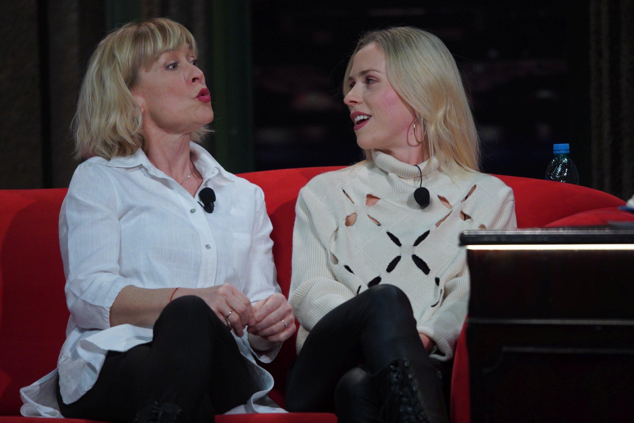 Herečky Dana Batulková a Mariana Prachařová v SJK 17. 2. 2021