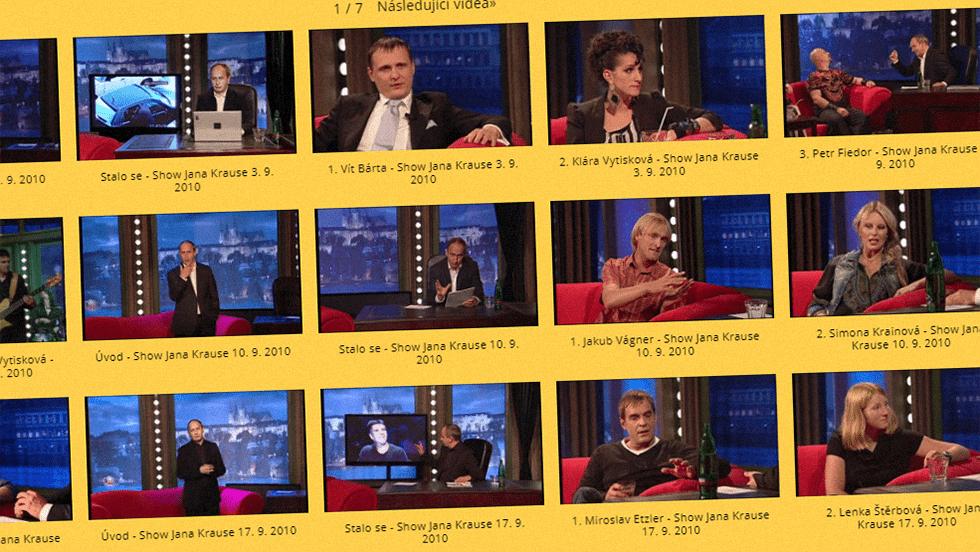 SEZÓNA 2010 = I. ŘADA – Videoarchiv Show Jana Krause