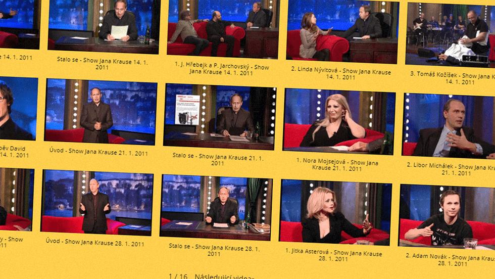 SEZÓNA 2011 = II. ŘADA – Videoarchiv Show Jana Krause
