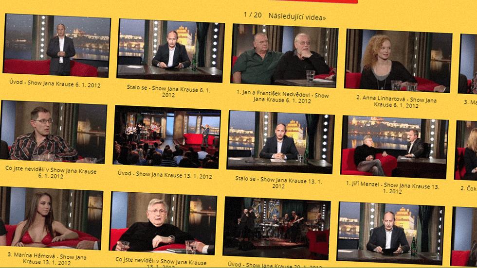 SEZÓNA 2012 = VIII. ŘADA – Videoarchiv Show Jana Krause