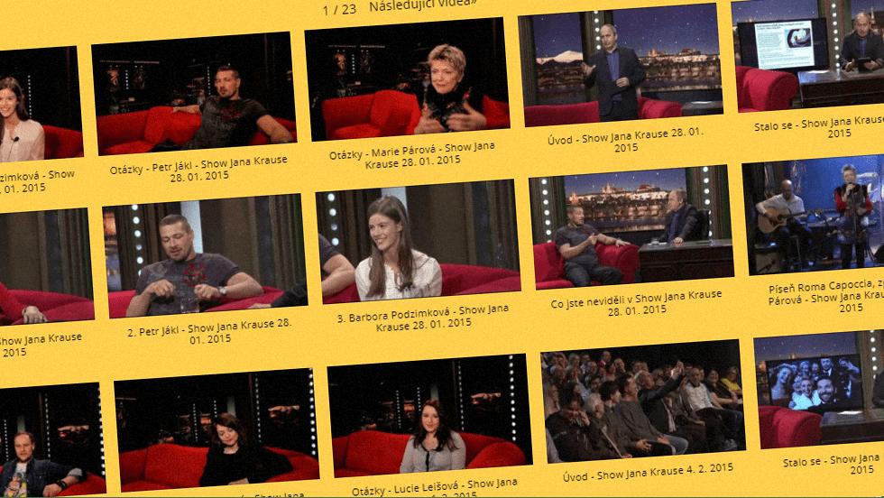 SEZÓNA 2015 = VIII. ŘADA – Videoarchiv Show Jana Krause