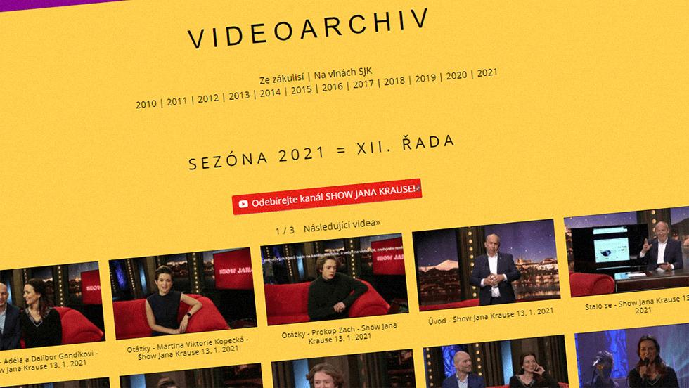 SEZÓNA 2021 = XII. ŘADA – Videoarchiv Show Jana Krause
