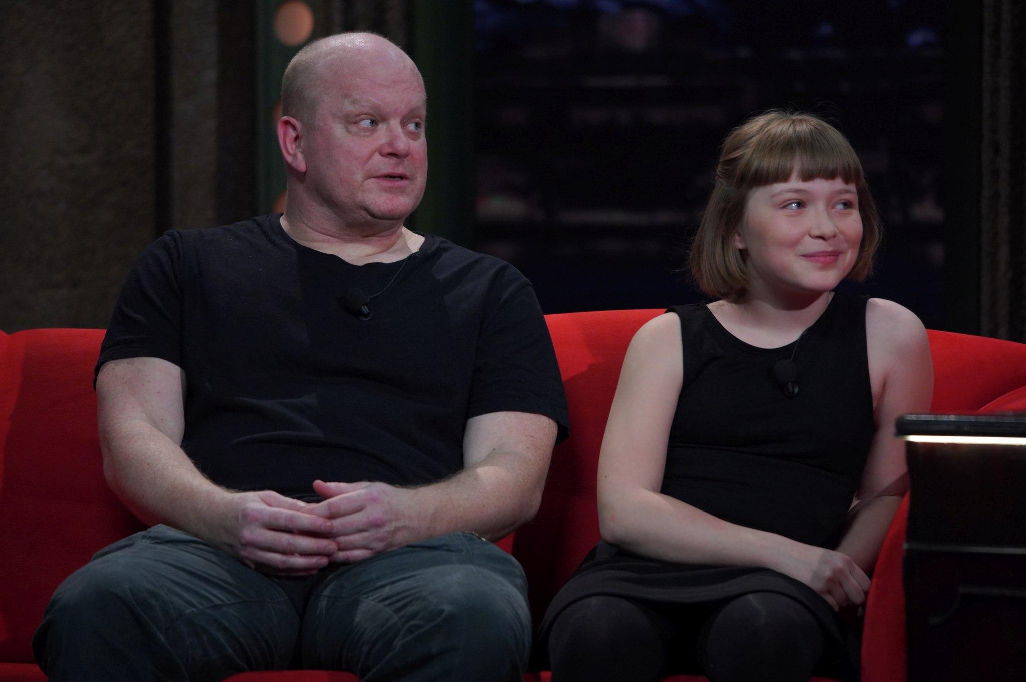 Herec s univerzálním talentem David Novotný s dcerou Anežkou, výtečnou dětskou herečkou, v SJK 17. 3. 2021