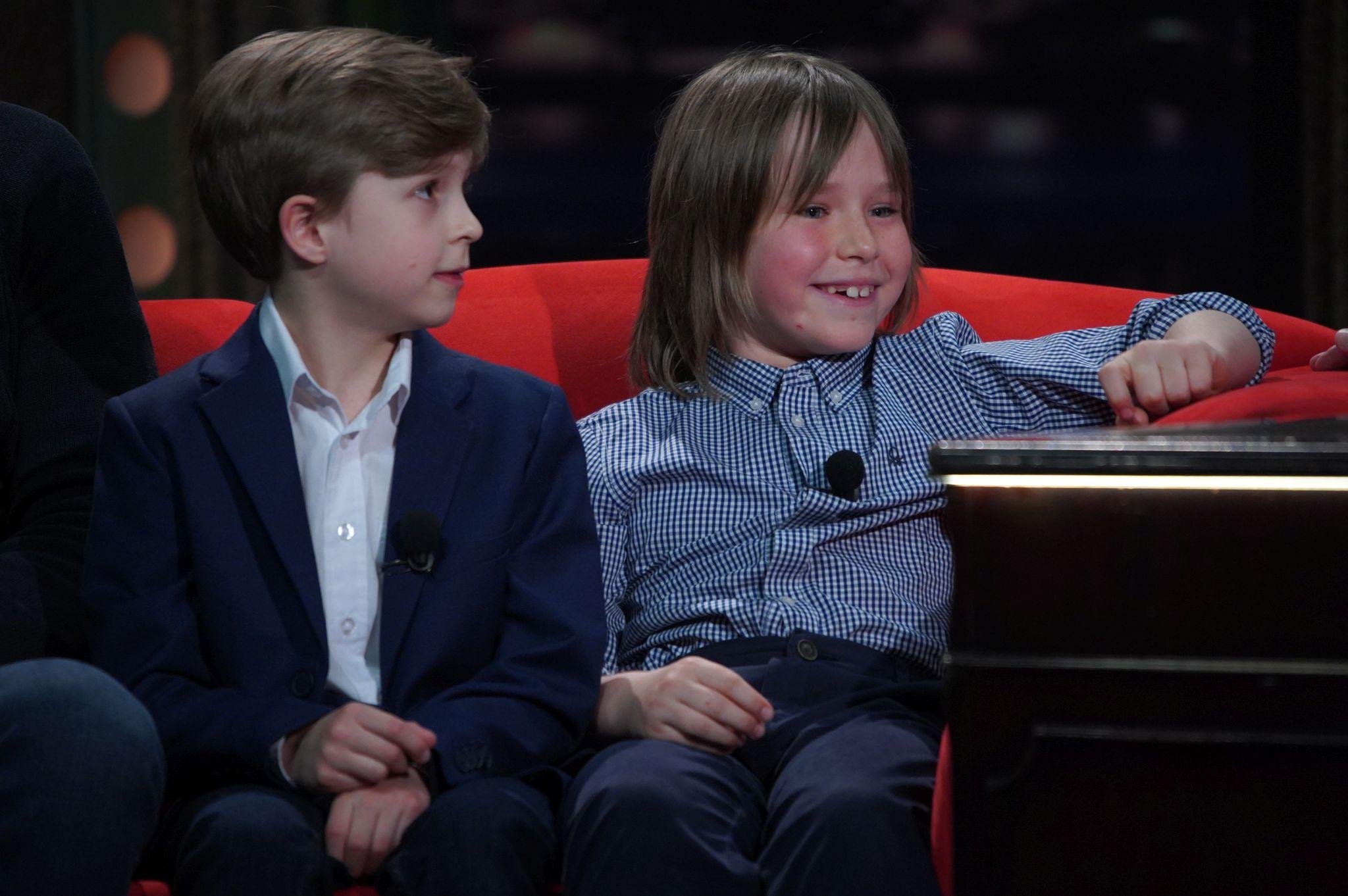 Oblíbení dětští herci (zleva) Viktor Sekanina a Theo Schaefer v SJK 21. 4. 2021