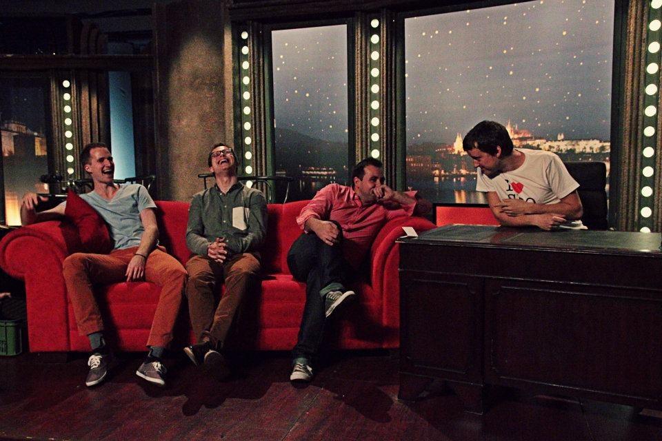 Hudební kapela Charlie Straight při zvukové zkoušce — SJK 6. 4. 2012