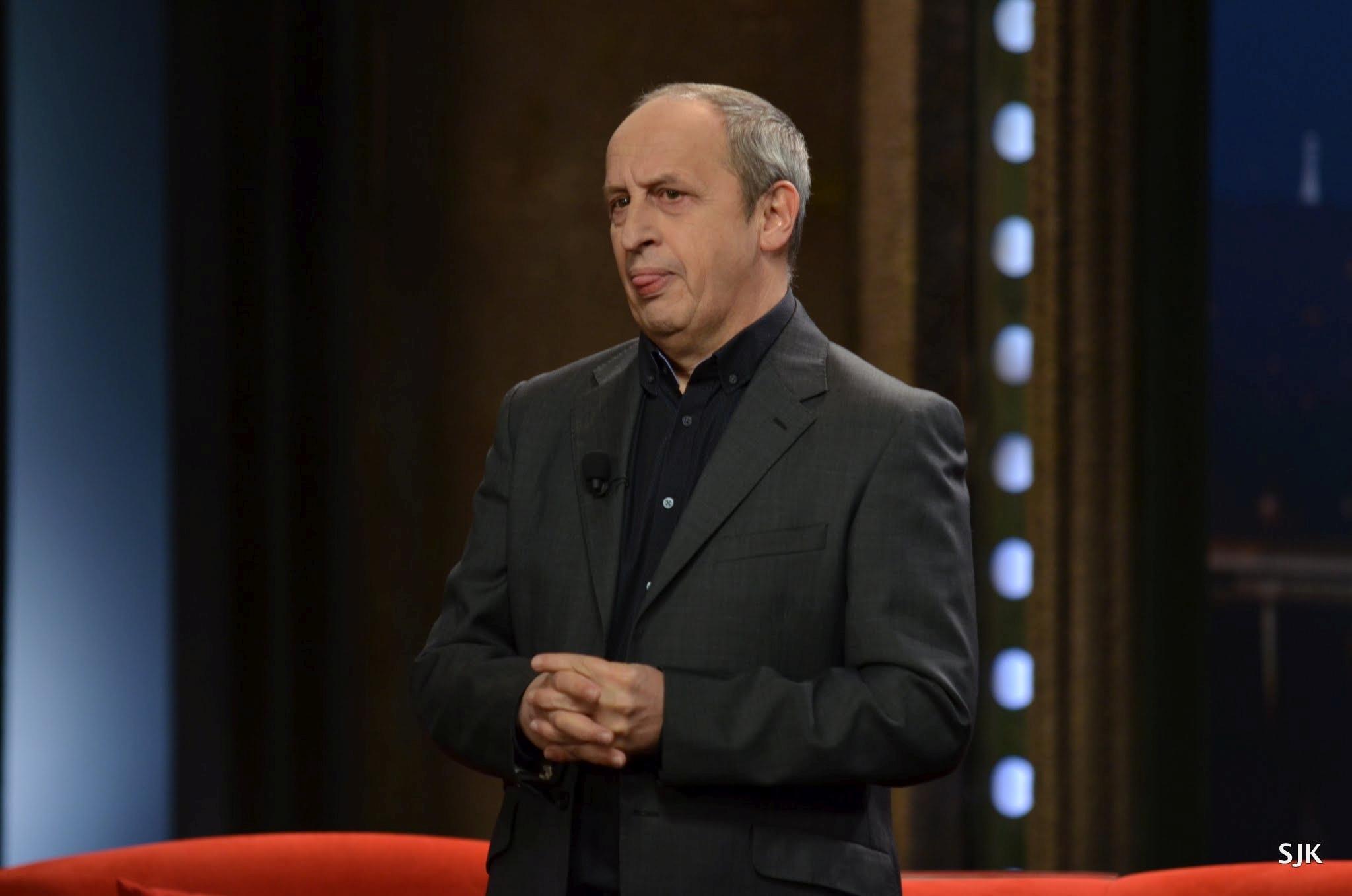 Moderátor Jan Kraus — natáčení SJK 13. 3. 2016