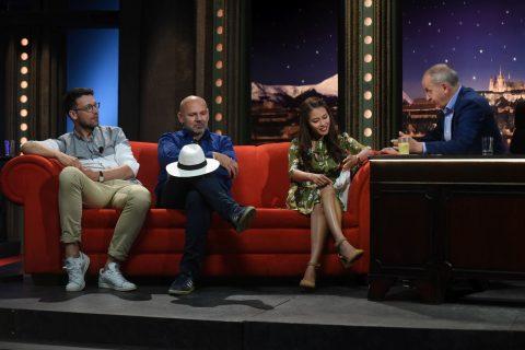 Zleva: Herec Lukáš Hejlík, muzikant Ota Baláž a herečka Ha Thanh Špetlíková v SJK 27. 6. 2018