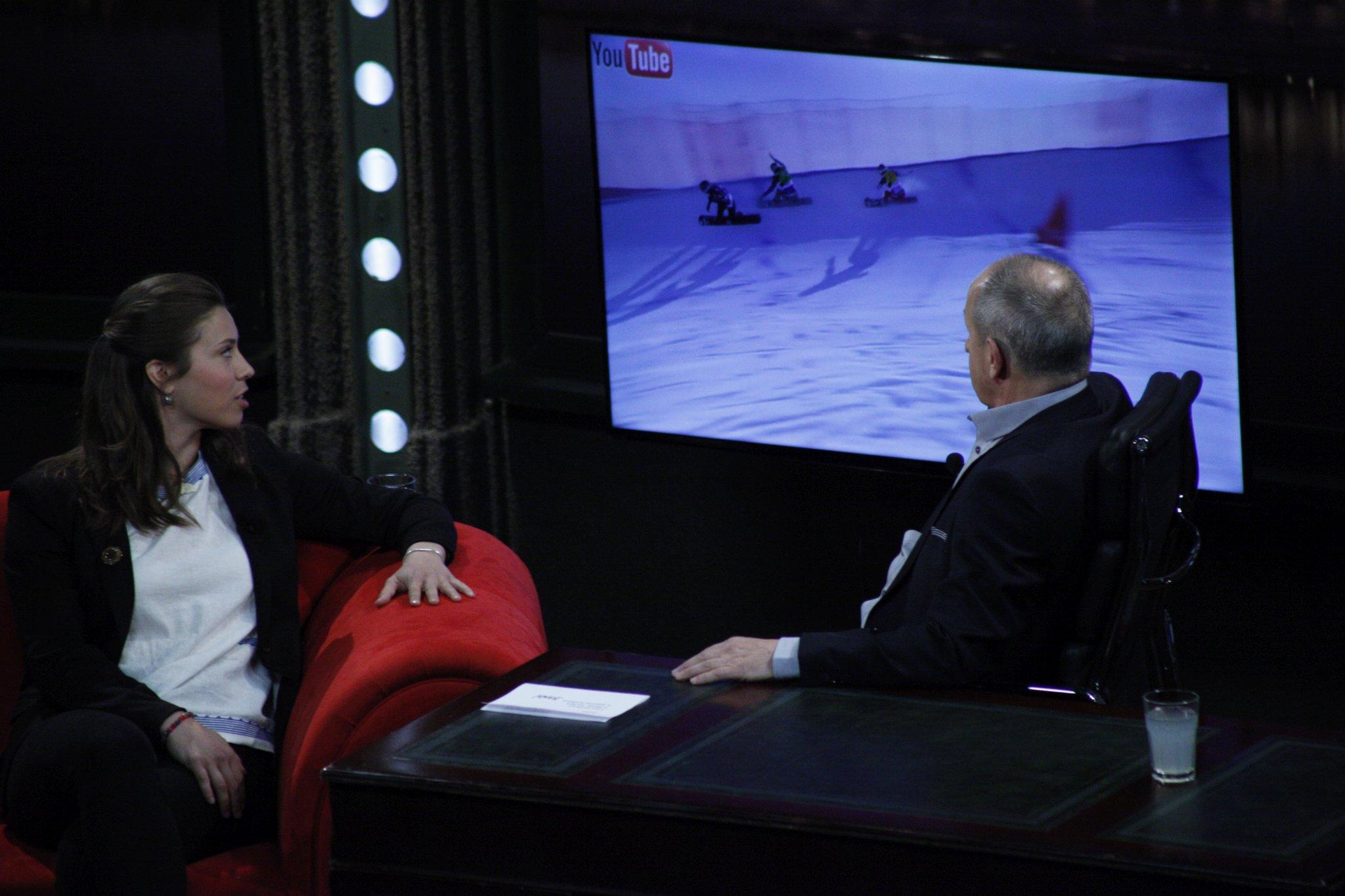 Zlatá snowboardcrosařka Eva Samková v SJK 29. 3. 2017
