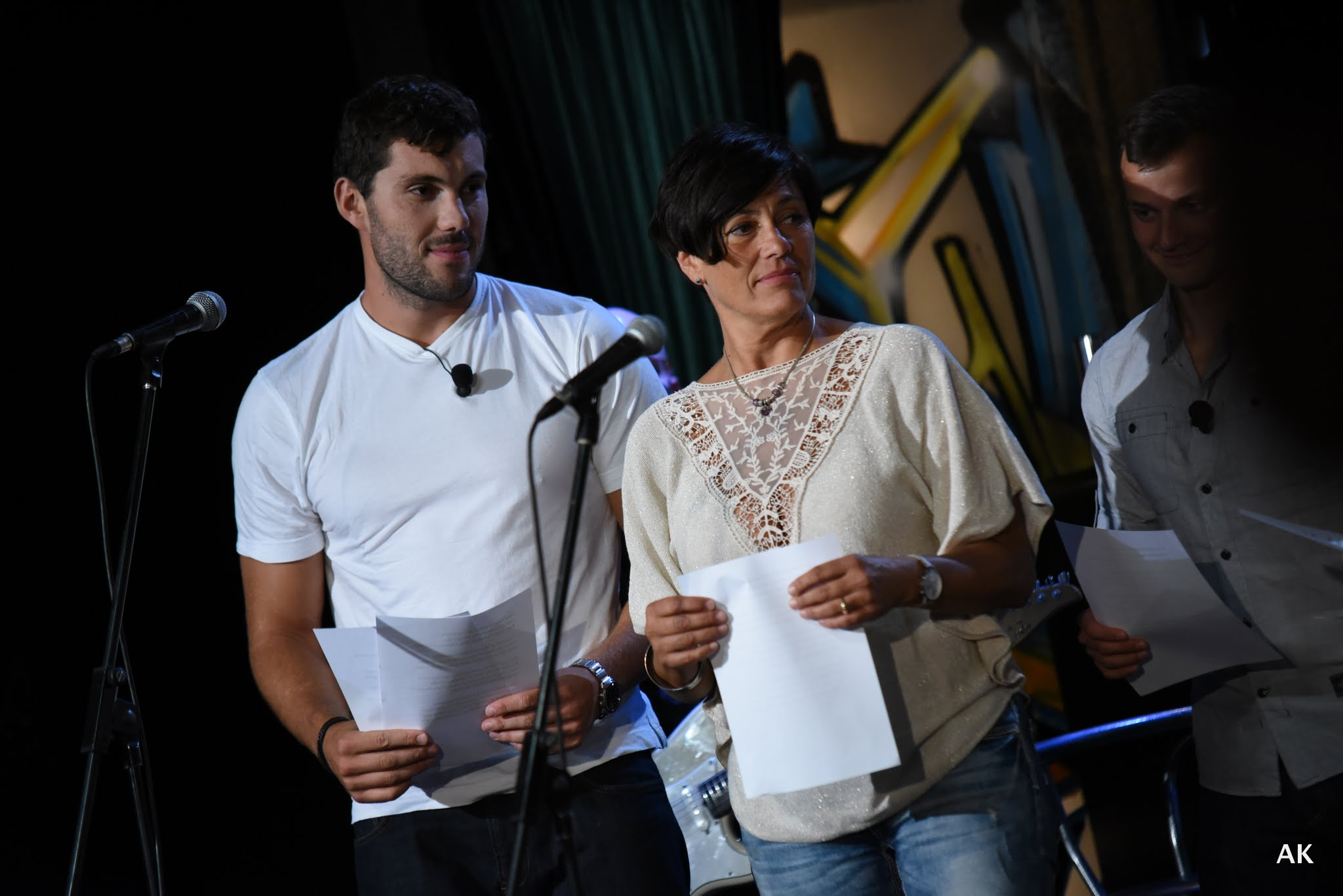 Josef Dostál a Eva Emingerová se chystají ke zpěvu – SJK 31. 8. 2016