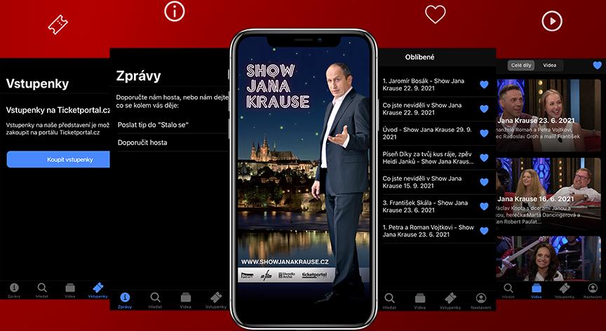 Pro pořad Show Jana Krause je k dispozici i mobilní aplikace, která je dostupná ke stažení pro Android v Google Play a pro iOS v App Store.